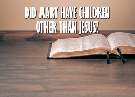 TW Answers: Did Mary Have Children Other Than Jesus?